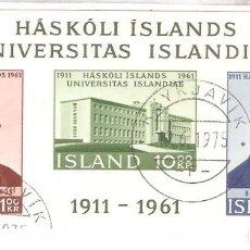 Sellos: ISLANDIA,1961,CAT. YT. BF 3. Lote 63271560