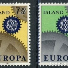 Sellos: ISLANDIA 1967 IVERT 364/5 *** EUROPA . Lote 67162497