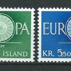 Sellos: ISLANDIA, EUROPA, 1960, MNH**. Lote 69901489