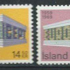 Sellos: ISLANDIA, SERIE EUROPA, 1969, MNH** . Lote 69901509