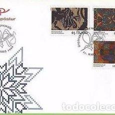Sellos: [CF4114] ISLANDIA 2008, FDC SERIE BORDADOS (NS). Lote 70268705