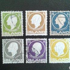 Sellos: SELLOS DE ISLANDIA. YVERT 62/67. SERIE COMPLETA MAYORÍA USADOS Y NUEVOS CON CHARNELA.. Lote 83194531