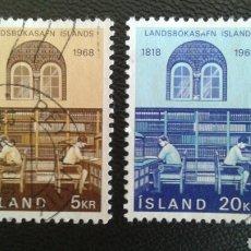 Sellos: SELLOS DE ISLANDIA. YVERT 377/8. SERIE COMPLETA USADA.. Lote 83194996