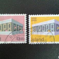 Sellos: SELLOS DE ISLANDIA. YVERT 383/4. SERIE COMPLETA USADA. EUROPA CEPT. Lote 83195026