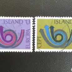 Sellos: SELLOS DE ISLANDIA. YVERT 424/5. SERIE COMPLETA USADA. EUROPA CEPT. . Lote 83195067