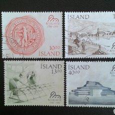 Sellos: SELLOS DE ISLANDIA. YVERT 607/10. SERIE COMPLETA USADA. . Lote 83195207