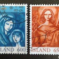 Sellos: SELLOS DE ISLANDIA. YVERT 579/80. SERIE COMPLETA USADA. NAVIDAD. Lote 83345748