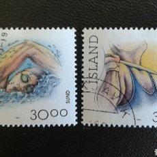 Sellos: SELLOS DE ISLANDIA. YVERT 751/2. SERIE COMPLETA USADA. DEPORTES. Lote 83384992