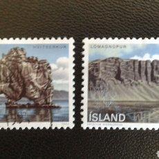 Sellos: SELLOS DE ISLANDIA. YVERT 684/5. SERIE COMPLETA USADA. MONTAÑAS. Lote 83385676