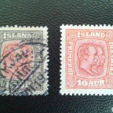 Sellos: SELLOS DE ISLANDIA. YVERT 77 Y 80. SELLOS SUELTOS USADOS. Lote 83426939