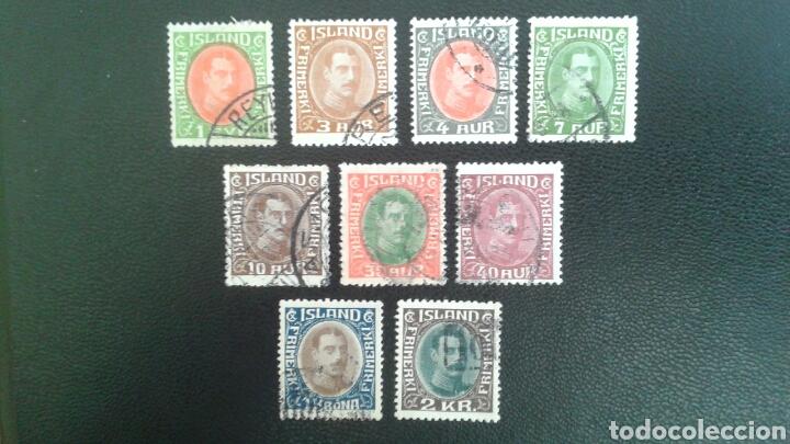 SELLOS DE ISLANDIA 145/6, 147A/8, 149A/52. SELLOS SUELTOS USADOS. (Sellos - Extranjero - Europa - Islandia)