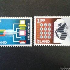 Sellos: ISLANDIA. YVERT 635/6. SERIE COMPLETA NUEVA SIN CHARNELA. EUROPA CEPT. . Lote 84673019