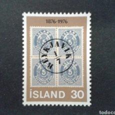 Sellos: ISLANDIA. YVERT 471. SERIE COMPLETA NUEVA SIN CHARNELA. SELLOS SOBRE SELLOS. Lote 84889192