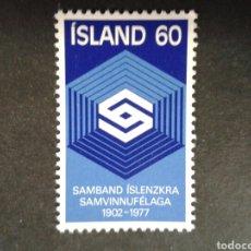 Sellos: ISLANDIA. YVERT 478. SERIE COMPLETA NUEVA SIN CHARNELA. Lote 84889268