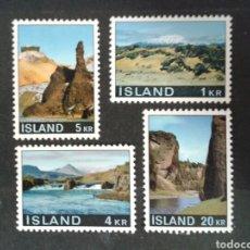 ISLANDIA. YVERT 387/90. SERIE COMPLETA NUEVA SIN CHARNELA