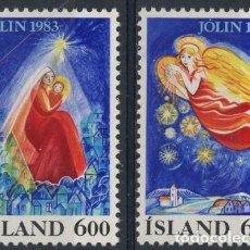 Sellos: ISLANDIA 1983 IVERT 561/2 *** NAVIDAD - LA NATIVIDAD. Lote 91456370
