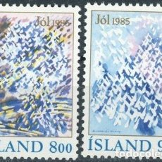 Sellos: ISLANDIA 1985 IVERT 595/6 *** NAVIDAD - IMAGENES INVERNALES. Lote 91456985