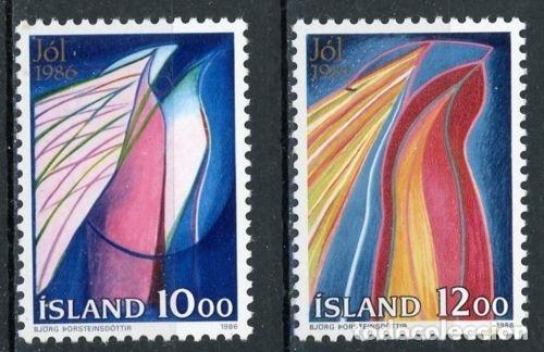 ISLANDIA 1986 IVERT 614/5 *** NAVIDAD (Sellos - Extranjero - Europa - Islandia)