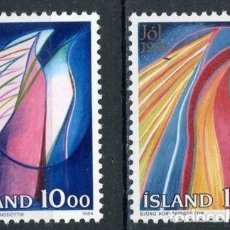 Sellos: ISLANDIA 1986 IVERT 614/5 *** NAVIDAD. Lote 91457190