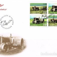 Sellos: (CF) ISLANDIA 2008, FDC SERIE HERRAMIENTAS DE AGRICULTURA ANTIGUA II. Lote 91599985
