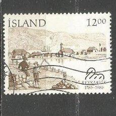 Sellos: ISLANDIA YVERT NUM. 608 USADO. Lote 97426327