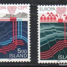 Sellos: ISLANDIA AÑO 1983 YV 551/52*** EUROPA - GRANDES OBRAS DE LA HUMANIDAD ENERGÍA Y RECURSOS NATURALES. Lote 98811127