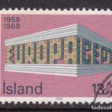 Sellos: ISLANDIA 1969 - SELLO MATASELLADO YVERT Nº 383. Lote 100222467