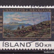Sellos: ISLANDIA 1970 - SELLO MATASELLADO YVERT Nº 399. Lote 100222523