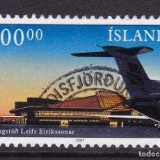 Sellos: ISLANDIA 1987 - SELLO MATASELLADO YVERT Nº 617. Lote 100222963