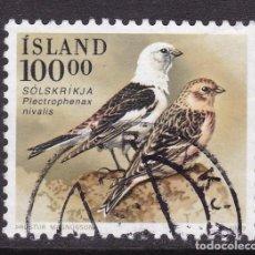 Sellos: ISLANDIA 1989 - SELLO MATASELLADO YVERT Nº 651. Lote 100222983