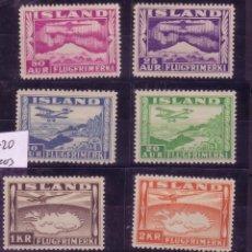 Sellos: ZZ4-ISLANDIA AEREOS YT 15/20. ** SIN FIJASELLOS 150 EUROS. Lote 100541823