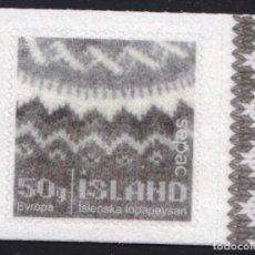 Sellos: ISLANDIA 2017 SEPAC- HANDCRAFT - EL SUÉTER ISLANDÉS. Lote 106296255