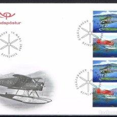 Sellos: [CF9107] ISLANDIA 2009, FDC AVIONES EN ISLANDIA I (NS). Lote 114013907