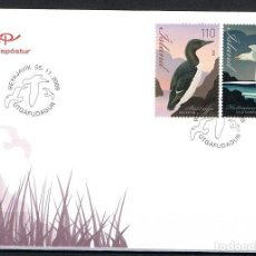 Sellos: [CF9124] ISLANDIA 2009, FDC FAUNA. AVES (NS). Lote 114092703