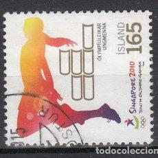 Sellos: ISLANDIA 2010 - DEPORTES SINGAPORE 2010 - USADO. Lote 117708403