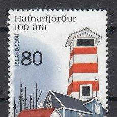 Sellos: ISLANDIA 2008 - 100 ANIVERSARIO DE HAFNARFJOROUR - USADO. Lote 117709063