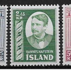 Sellos: SELLOS USADOS DE ISLANDIA, YT 251/ 53. Lote 121718347