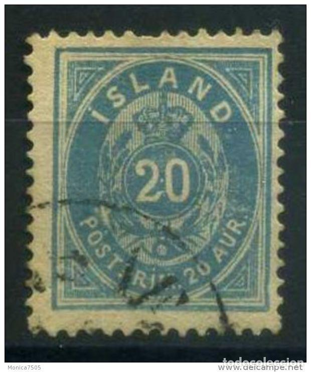SELLO USADO DE ISLANDIA, YT 14 (Sellos - Extranjero - Europa - Islandia)