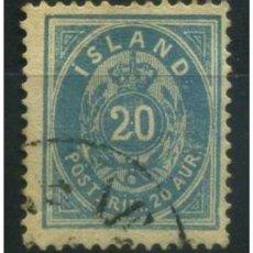 Sellos: SELLO USADO DE ISLANDIA, YT 14. Lote 124036879