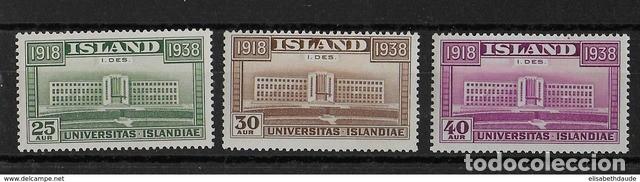 SELLOS USADOS DE ISLANDIA, YT 168/ 70 (Sellos - Extranjero - Europa - Islandia)