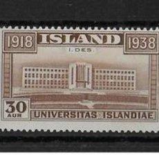 Sellos: SELLOS USADOS DE ISLANDIA, YT 168/ 70. Lote 126774315