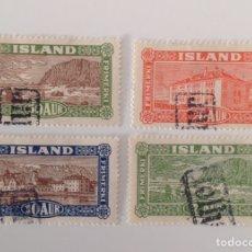 Sellos: LOTE DE 4 SELLOS DE ISLANDIA NUEVOS. Lote 130873881
