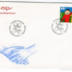 Sellos: FDC ISLANDIA, YT 969. Lote 131569158
