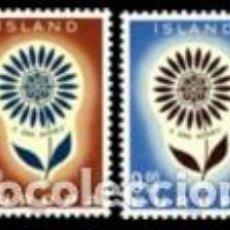 Sellos: SELLOS NUEVOS CON LIGERAS MARCAS DE CHARNELA DE ISLANDIA, YT 340/ 41. Lote 131994710