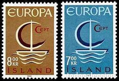 SELLOS NUEVOS CON LIGERAS MARCAS DE CHARNELA DE ISLANDIA, YT 359/ 60 (Sellos - Extranjero - Europa - Islandia)