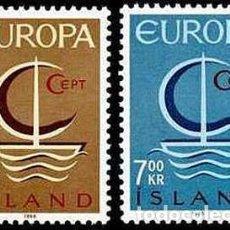 Sellos: SELLOS NUEVOS CON LIGERAS MARCAS DE CHARNELA DE ISLANDIA, YT 359/ 60. Lote 131995026
