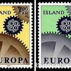 Sellos: SELLOS NUEVOS CON LIGERAS MARCAS DE CHARNELA DE ISLANDIA, YT 364/ 65. Lote 131995106