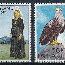 Sellos: SELLOS NUEVOS CON LIGERAS MARCAS DE CHARNELA DE ISLANDIA, YT 353/ 54. Lote 131995422