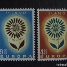 Sellos: ISLANDIA Nº YVERT 340/1*** AÑO 1964. EUROPA. Lote 133500734