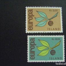 Sellos: ISLANDIA Nº YVERT 350/1*** AÑO 1965. EUROPA. Lote 133500778